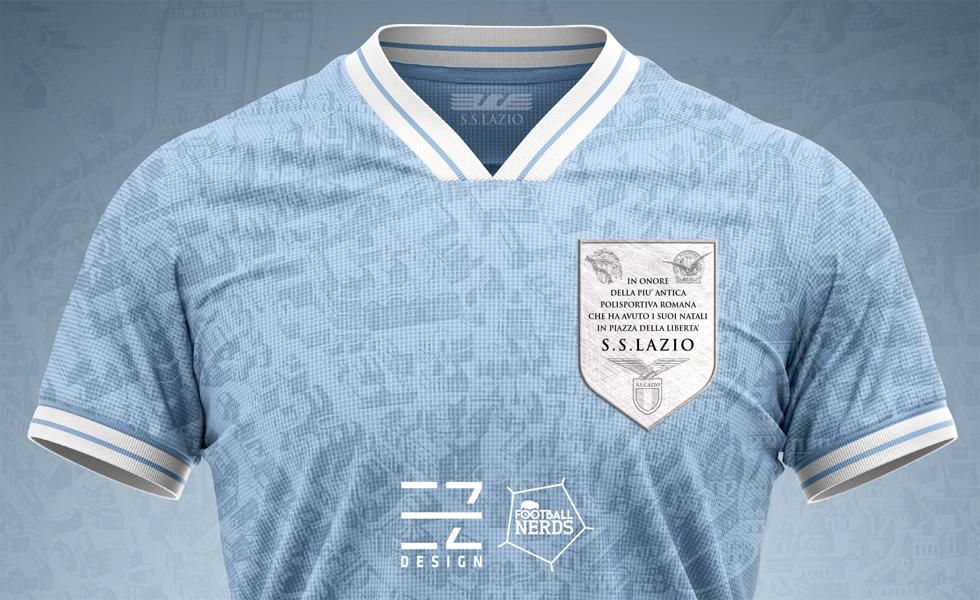 Il Concept Kit della maglia della Lazio per il derby by EZ Design