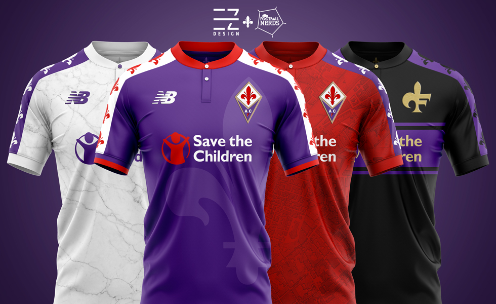 Fiorentina e New Balance? EZ Design ci svela i suoi Concept Kit per la maglia 2019 2020