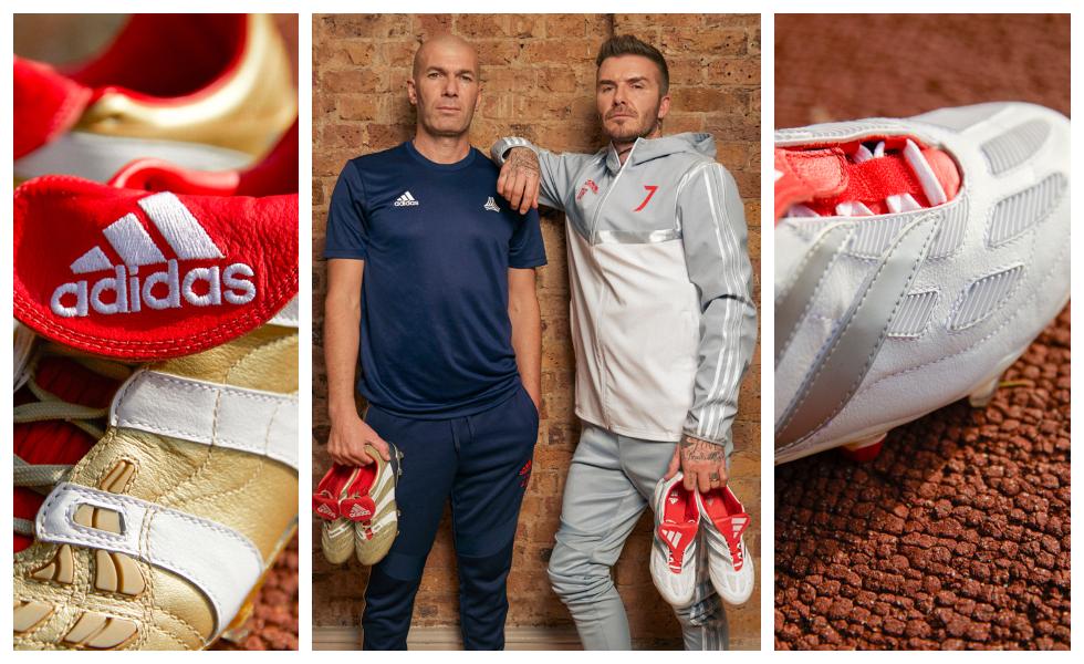 "Adidas lancia il ""25 years Predator pack"" con Zidane e Beckham"