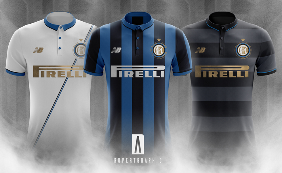 Le maglie New Balance dell'inter immaginate da Rupertgraphic