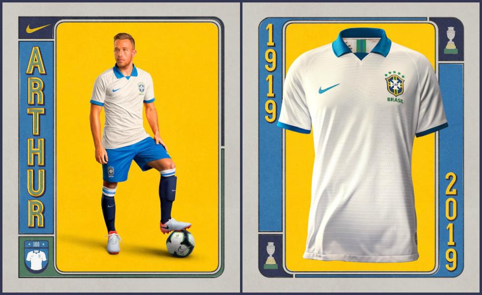 La maglia bianca Nike del Brasile per la Copa America