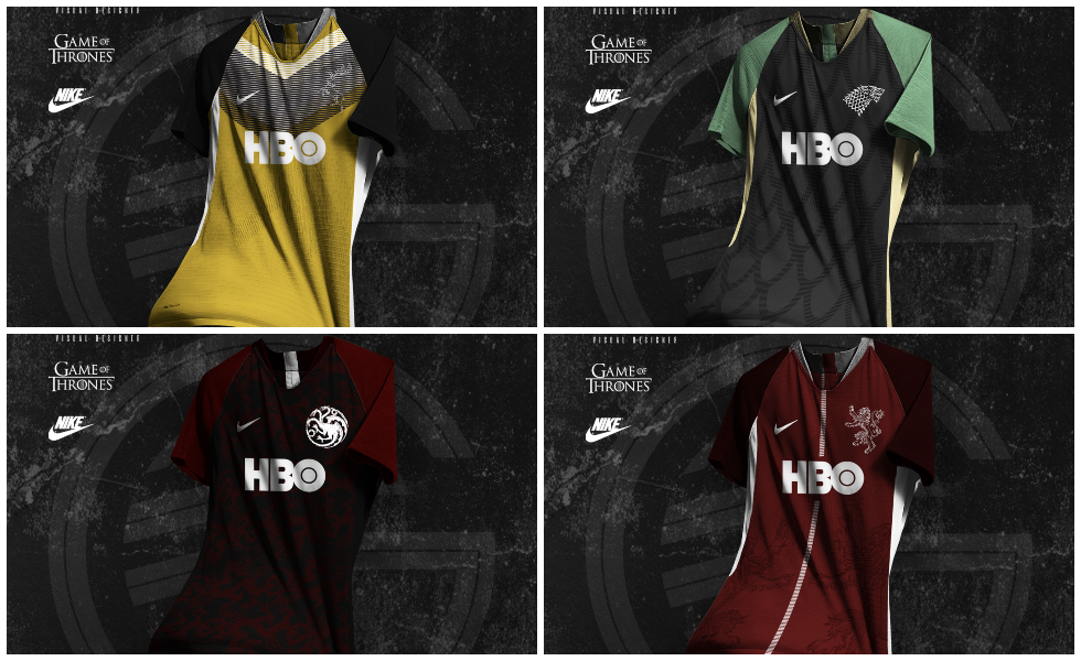 Le maglie da calcio di Game of Thrones. Concept Kit by ItsGlooMySport