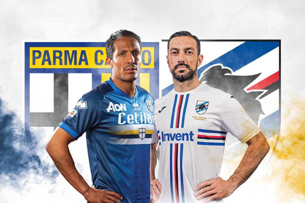 parma sampdoria maglie invertite