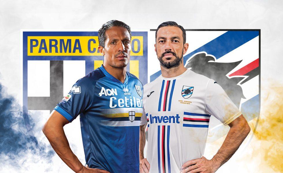 #Blucrociati: le maglie invertite di Parma e Sampdoria