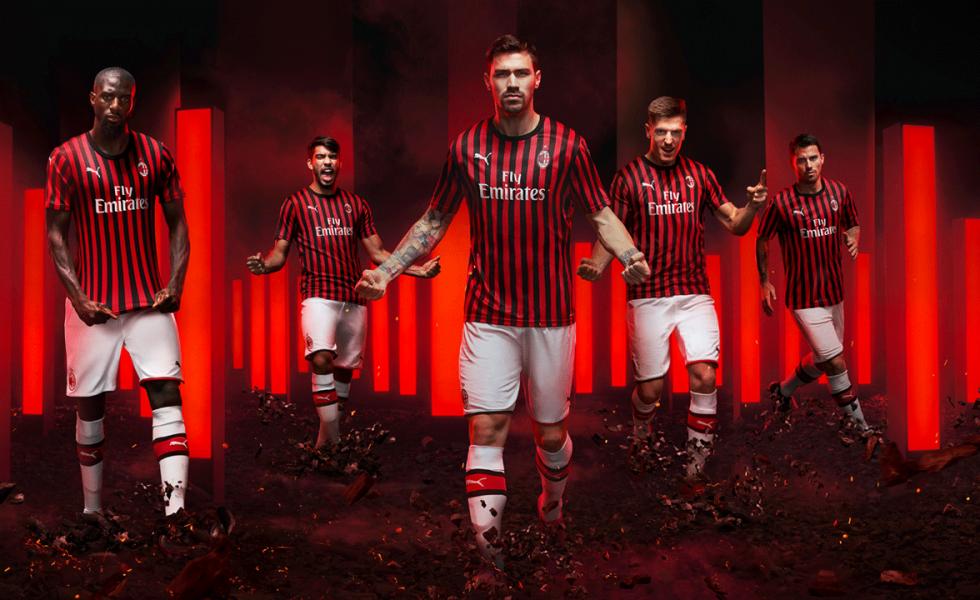Puma, le maglie home del Milan 2019/20