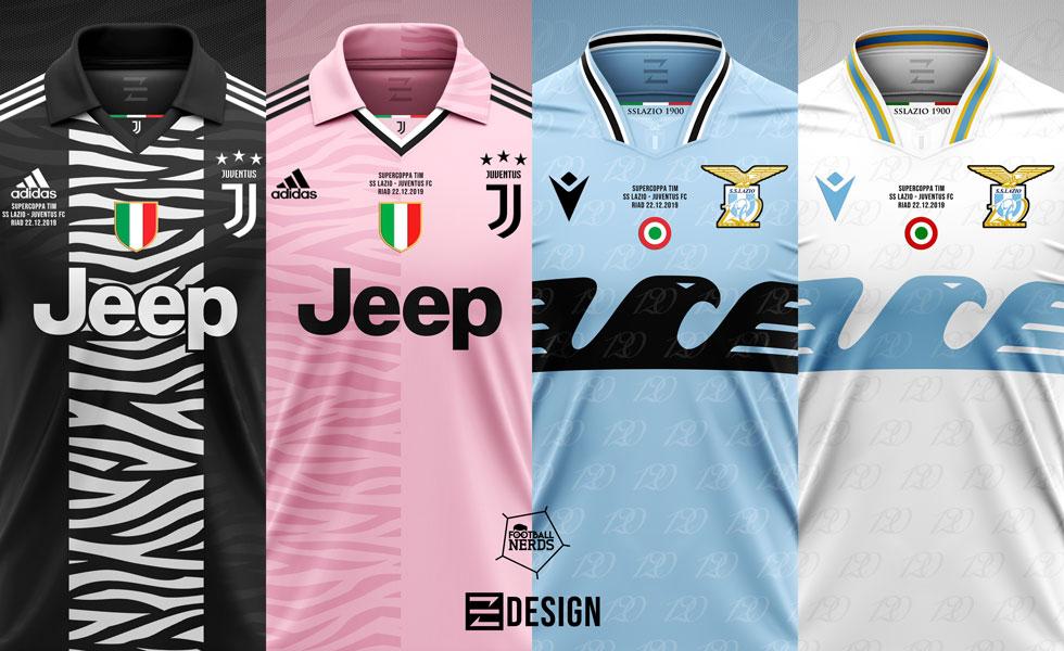 Supercoppa 2019/20: i Concept Kit delle maglie di Juventus e Lazio
