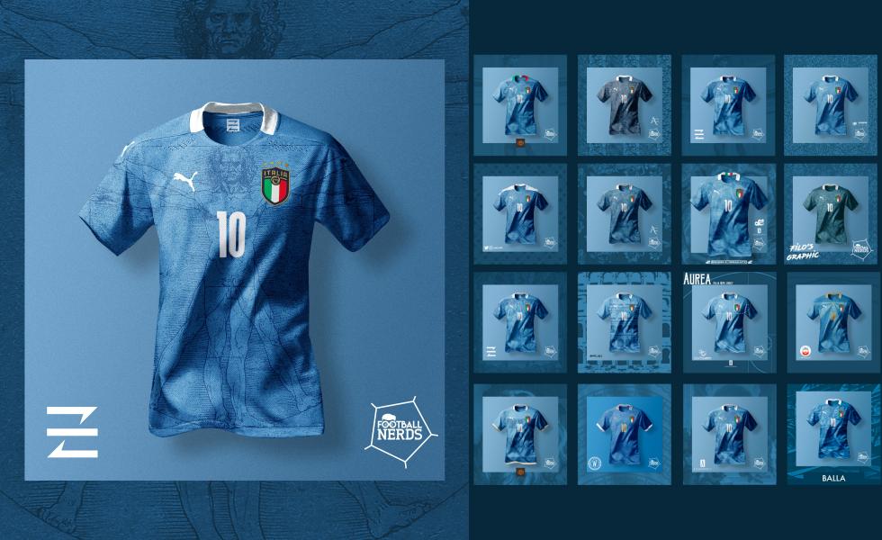 Il concept kit contest sulle maglie dell'Italia per Euro 2020