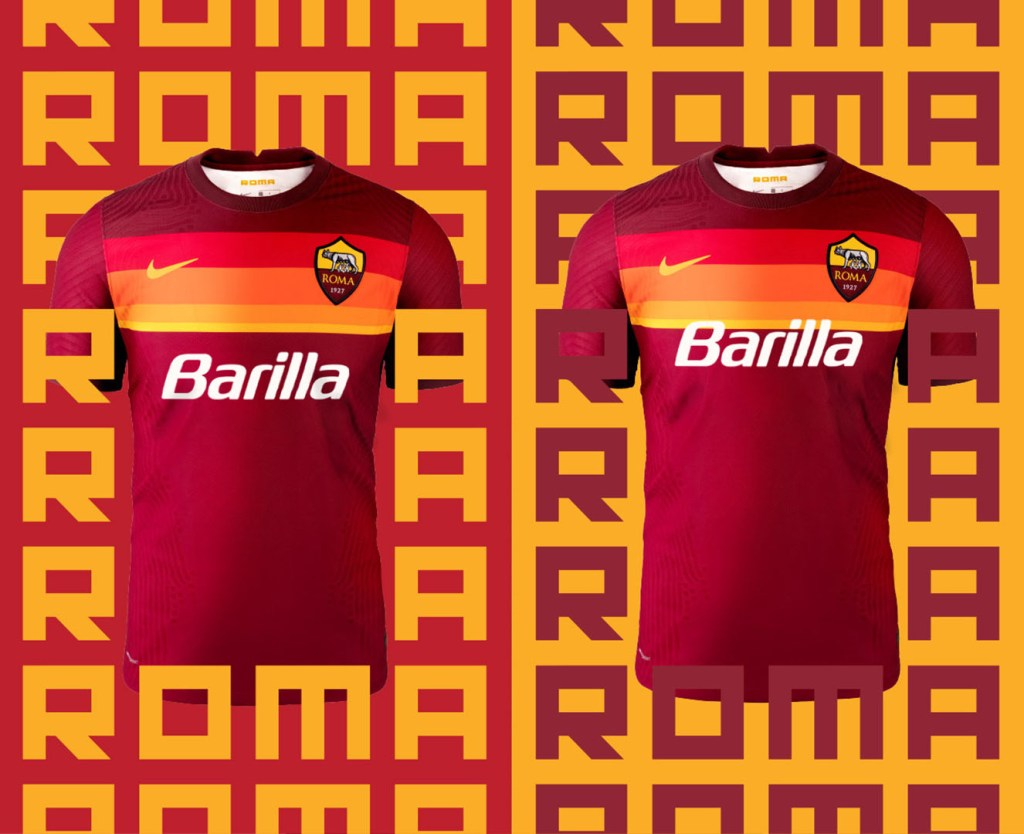 AS Roma maglie 2020-2021 sponsor vintage Barilla