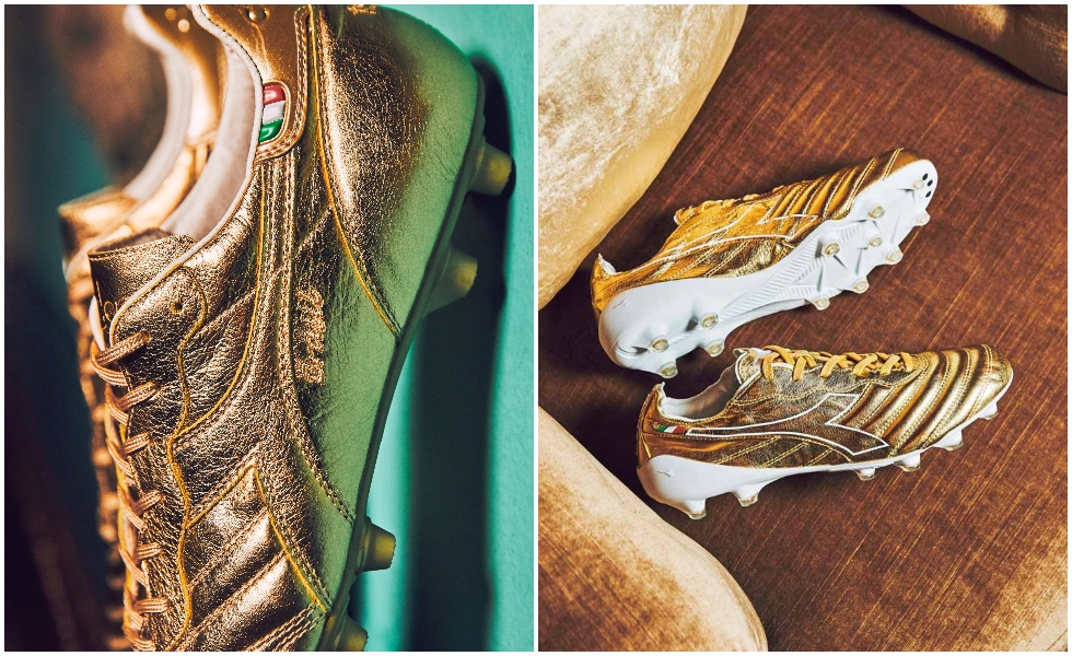 Diadora celebra il pallone d'oro: ecco la Gold Capsule Collection