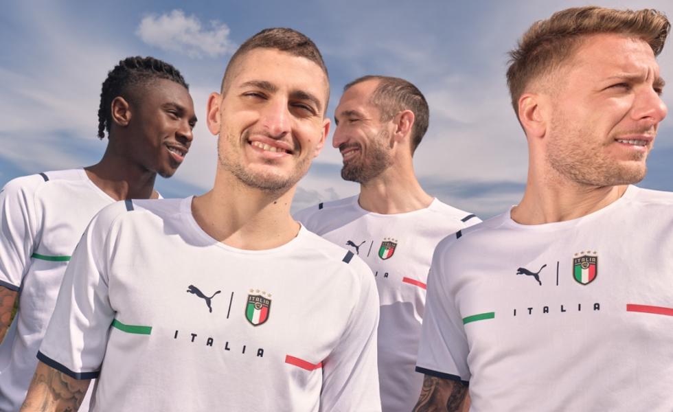 Puma svela la maglia away dell'Italia per Euro 2020